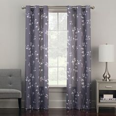 The Big One 2 Pack Floral Decorative Window Curtains Curtains