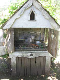 sweet idea for bunny hutch
