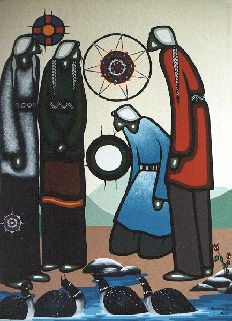 Leland Bell Anishinaabe from the Wikwemikong Unceded First Nation on Manitoulin Island, Ontario Kunst Der Aborigines, Manitoulin Island, Native American Artists, Mexicans, Canadian Art, Indigenous Art, Aboriginal Art, Stained Glass Art, Native Art