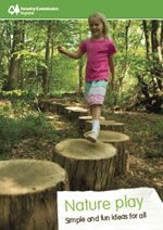 Nature Play - simple and fun ideas for all.  A practical guide that offers simple egs of play ideas from easily sourced materials.