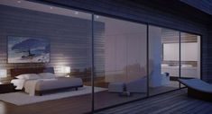 A concept borne of the landscape, these luxury Corsican villas represent all that is valued in modern design. Modern House Design, Modern Interior Design, Interior Architecture, Contemporary Bedroom Decor, Modern Bedroom, Master Bedroom Interior, Home Bedroom, Villas, Bedroom Designs Images