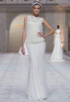 Pronovias Spring 2015 Bridal - Fashion Show Beaded Wedding Gowns, 2015 Wedding Dresses, Designer Wedding Dresses, Bridal Dresses, Dress Wedding, Beaded Gown, Wedding Vows, Bridal Show, Party Dresses