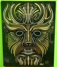 Wolfman pinstriped Panel