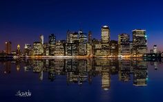 manhattan night skyline Desktop