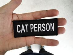 Cat Person : MC Name Tag Inspired Embroidered by monstersoutside