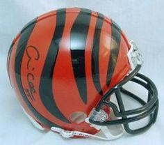 Andre Collins NFL Cincinnati Bengals Hand Signed Mini Helmet