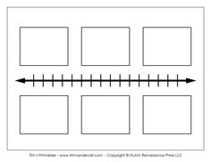 Horizontal Timeline With Boxes To Draw Pictures Or Write Events