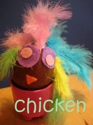 Decorated Easter eggs, easter egg craft for kids