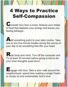 "Download ""4 Ways to Practice Self-Compassion"" and use it in your home or parish to discuss ways to maintain balance and avoid compassion fatigue.     http://go.sadlier.com/wbas-practice-self-compassion     #Catholic #Catholics"