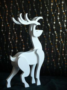 Supplies For Arts And Crafts Key: 2512225829 Christmas Yard Art, Christmas Wood Crafts, Christmas Deer, Recycled Paper Crafts, Wooden Crafts, Reindeer Decorations, Christmas Decorations, Outdoor Nativity, Wooden Toy Trucks