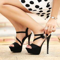 Rhinestone Platform Sandals Women P..