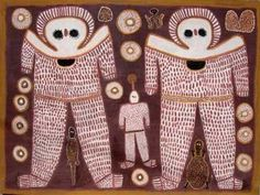 In Aboriginal mythology, the Wondjina (or Wandjina) were cloud and rain Gods who, during the Dream time, created or influenced the landscape and its inhabitants.