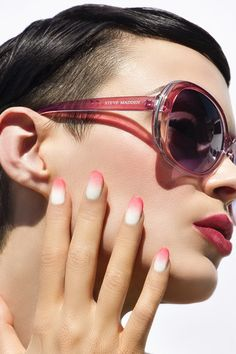 The incredibleMadeline Poole of Nailing Hollywood took inspiration from ournew pink shadesto create this gorgeousombré nail art.