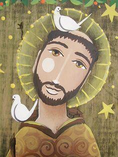 Chico em madeira de demolição by Madu Lopes, via Flickr