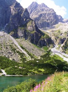 The Green Lake (Zelené pleso) in High Tatras Mountains, Slovakia (by Albania Travel Destinations Albania Travel, Visit Albania, Cool Places To Visit, Places To Travel, Places To Go, Travel Destinations, High Tatras, Tatra Mountains, Carpathian Mountains