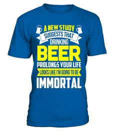 """# Drinking Beer Prolongs Your Life T Shirt .  Special Offer, not available in shops      Comes in a variety of styles and colours      Buy yours now before it is too late!      Secured payment via Visa / Mastercard / Amex / PayPal      How to place an order            Choose the model from the drop-down menu      Click on """"Buy it now""""      Choose the size and the quantity      Add your delivery address and bank details      And that's it!      Tags: Drinking Beer Prolongs Your Life T Shirt…"""