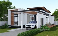 More and more homeowners now are looking for houses that project modern designs. Modern house designs are simple and do not have lavish decorations and design. Single Storey House Plans, One Storey House, 2 Storey House Design, Modern Bungalow House Design, Small Modern House Plans, Simple House Design, House Layout Plans, House Layouts, Two Story House Design