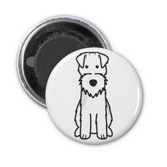 Welsh Terrier Dog Cartoon Refrigerator Magnet