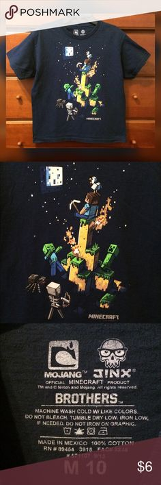 Boys Minecraft Tee Shirt Finally cleaning out my sons closet! Tee is in excellent pre owned condition. Sz Med Shirts & Tops Tees - Short Sleeve