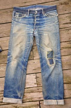 Post with 39157 views. 6 Years in Raw Denim Love Jeans, Jeans Style, Edwin Jeans, Denim Ideas, Raw Denim, Washed Denim, Vintage Jeans, Vintage Boots, Denim Pants