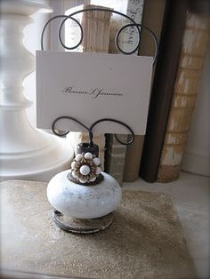 What a Great Idea for a vintage Ceramic door knob...saved from the garbage heap and a new job...Cute!