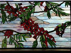 stained glass Flamboyan branch window