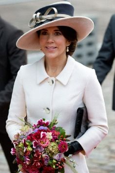Danish Crown Princess Mary arrives to the naming ceremony for the worlds largest new A.P. Moller-Maersk container ship at Langelinie, Copenhagen on 25 Sep 2013