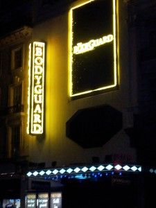 Adelphi Theatre with the Bodyguard signs. Adelphi Theatre, West End, Musicals, Memories, Signs, Memoirs, Souvenirs, Shop Signs, Remember This