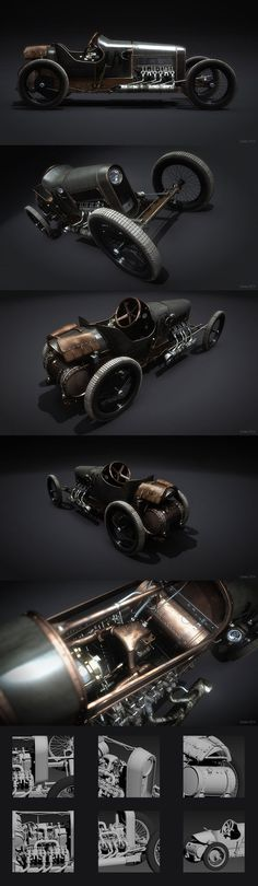Would love to build a metal model of this unique steampunk looking car