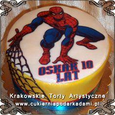 064. Tort ze Spidermanem dla Oskara na 10urodziny. Spiderman cake.