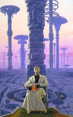 "Isaac Asimov, ""Foundation"" Cover by Michael Whelan Science Fiction Kunst, Science Art, Arte Sci Fi, Sci Fi Art, World Of Fantasy, Sci Fi Fantasy, Asimov Foundation, Foundation Series, Rpg Cyberpunk"