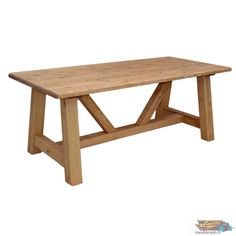 A DÉCOUVRIR: Grande Table en Pin Rectangulaire 200 cm| meublespin.fr Table En Pin, Picnic Table, Dining Bench, Furniture, Home Decor, Solid Pine, Contemporary, Decoration Home, Table Bench
