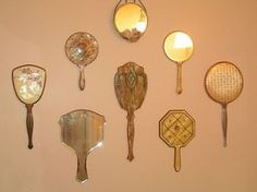 I have used my collection on the wall opposite a window, brings in lots of light and sparkle