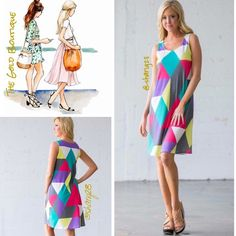 """⚡️⚡️Flash Sale-Kaleidoscope Tunic Dress⚡️ Kaleidoscope Of colors, sleeveless, A line shift Dress. Fabulous summer dress for all occasions. Pair with sandals or flip flops for a casual look or dress it up with strapped espadrilles or heels. Size S, M, L. Made of a ploy/spandex blend.  Embellished pastel Small Bust 34"""" Length 33"""" Med.   Bust 36"""" Length 33"""" Lg.   Bust 38"""" Length 34"""" The Gold Boutique Dresses Midi"""