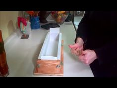 Easy way to line a soap mold - YouTube