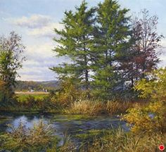 Gentle Breezes of Autumn by Andrew Orr Oil ~ 16 x 17