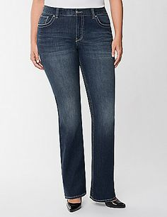 Full Figure Genius Fit Pearl Slim Boot Jean by Lane Bryant | Lane Bryant
