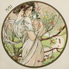 Alphonse Mucha | The Months - Mai, 1899.