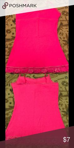 New with tags Justice Cami Bra in Justice neon pink Bra in Cami with lace trim has tags on it justice  Shirts & Tops Camisoles