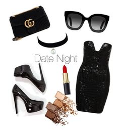 """""""Date Night"""" by mirandaellis1504 ❤ liked on Polyvore featuring Steve Madden, Gucci and Maybelline"""