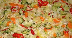 Ajánld ismerőseidnek! ... Croatian Recipes, Hungarian Recipes, My Recipes, Salad Recipes, Cooking Recipes, Cold Vegetable Salads, Gyro Pita, No Bake Cake, Food For Thought