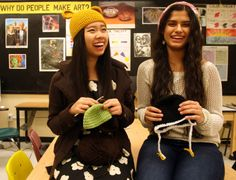 Gulf High students learn to #crochet to fulfill IB requirement and help others