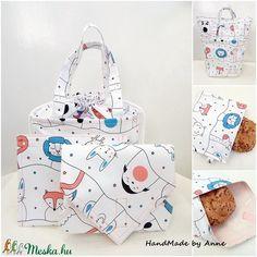 ÖKO Kids bag set - kötélen állatokuzsonnás táska szett - NoWaste csomagolás! (annetextil) - Meska.hu Bagan, Box, Zero Waste, Holiday Decor, Snare Drum, Boxes