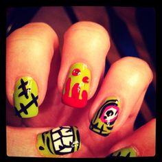 cute, would totally match the iron firs heel...Zombies!   Ciaracake.tumblr.com Twitter: ciaraa_black Instagram: ciaracake