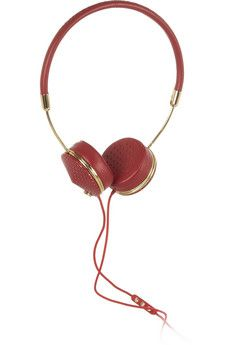 Red Frends Layla Perforated Leather Headphones House Of Waris Rare Leather Headphones Perforated Leather Leather