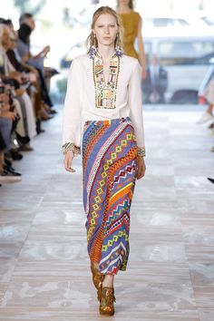 #ToryBurch  #fashion  #Koshchenets  Tory Burch Spring 2017 Ready-to-Wear Collection Photos - Vogue