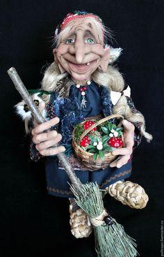 Сказочные персонажи ручной работы. Ярмарка Мастеров - ручная работа. Купить Баба-яга. Handmade. Кукла ручной работы