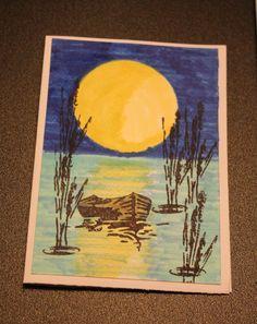 Silhouet kaart Painting, Painting Art, Paintings, Painted Canvas, Drawings