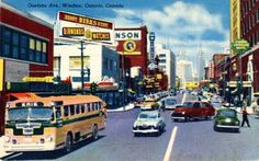 Ouelette Ave., Windsor, Ontario, Canada, 1958