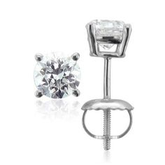 0.60 carat Diamond Stud Earrings in Platinum (GH, SI3-I1)-Appraisal Report Included